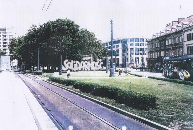 Rzeźba ma stanąć przy placu Bankowym Skan projektu fundacji / A. Sheybal-Rostek