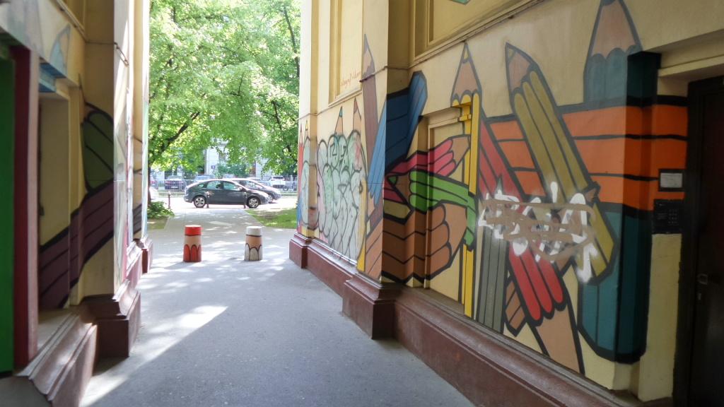Odmaluj zniszczony mural korczaka r dmie cie for Mural ursynow