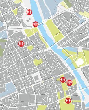 Mapa miejskich toalet UM Warszawa