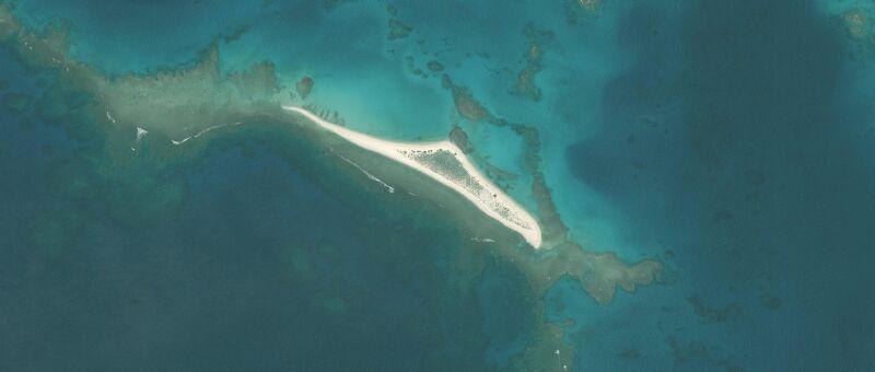 Tak wyspa East Island wyglądała przed przejściem huraganu Walaka (United States Fish and Wildlife Service)