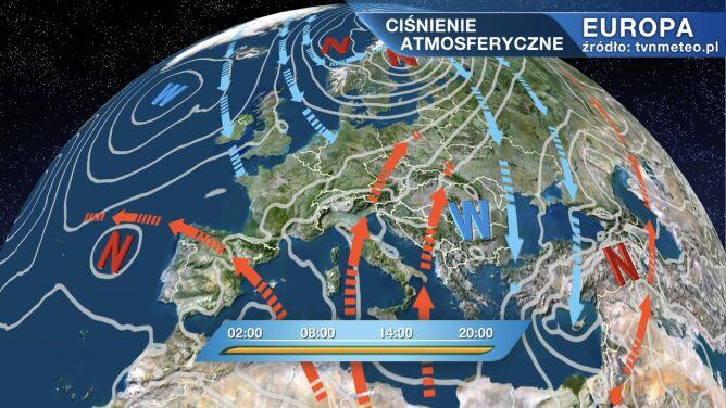 Wyż Peggy rządzi pogodą w Polsce