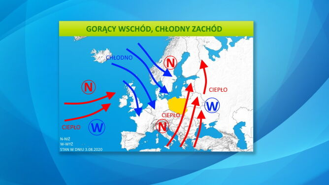 Ciśnienie atmosferyczne w Europie (tvnmeteo.pl)