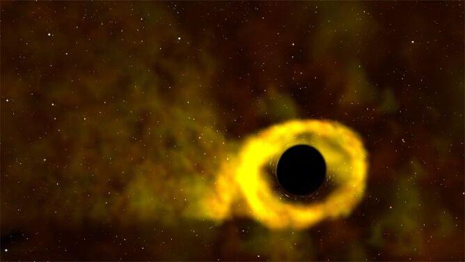 Zobacz, jak czarna dziura połyka gwiazdę. <br />Zjawisko uchwycono po raz pierwszy