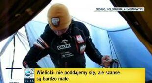 Krzysztof Wielicki nie widzi szans dla kolegów (TVN24)